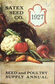Cover of: Seed and poultry supply annual | Satex Seed Co
