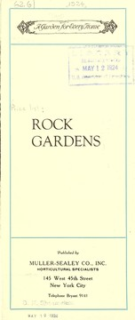 Cover of: Rock gardens | Muller-Sealey Company