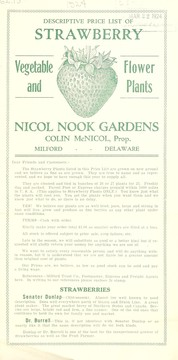 Cover of: Descriptive price list of strawberry, vegetable, flower and plants | Nicol Nook Gardens