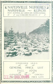 Cover of: General price list | Naperville Nurseries