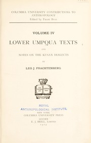 Cover of: Lower Umpqua texts ; and, Notes on the Kusan dialects