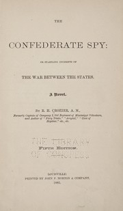 Cover of: The Confederate spy
