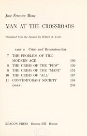 Cover of: Man at the crossroads