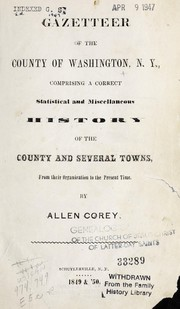 Gazetteer of the county of Washington, N. Y. by Allen Corey