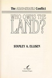 Cover of: Who owns the land? | Stanley A. Ellisen