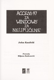 Cover of: Access 97 za Windows za neupuc ene