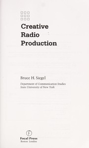 Cover of: Creative radio production