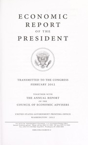 Cover of: Economic report of the President | United States. President