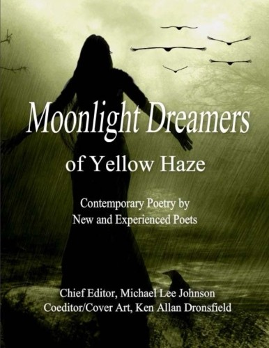 Yellow Cover Poetry Book : Moonlight dreamers of yellow haze edition open