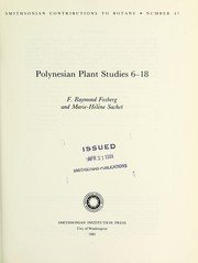 Cover of: Polynesian plant studies 6-18