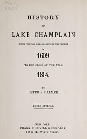 Cover of: History of Lake Champlain | Peter Sailly Palmer