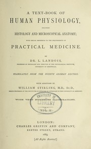 Cover of: A text-book of human physiology | L. Landois