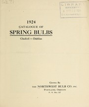 Cover of: 1924 catalogue of spring bulbs