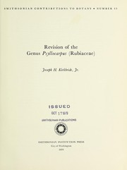 Cover of: Revision of the genus Psyllocarpus (Rubiaceae) | Joseph H. Kirkbride