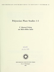 Cover of: Polynesian plant studies 1-5