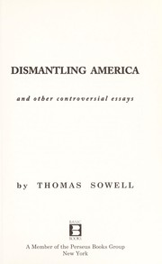Cover of: Dismantling America