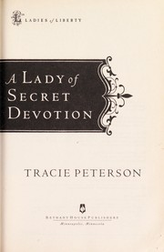 Cover of: A lady of secret devotion