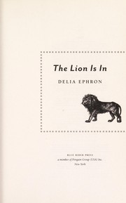 Cover of: The lion is in