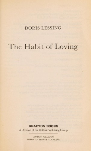The habit of loving by Doris Lessing