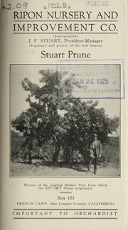 Cover of: Stuart prune | Ripon Nursery and Improvement Co