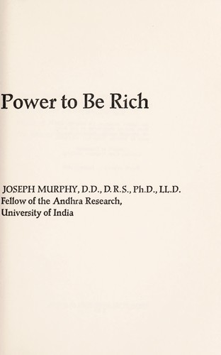 Your infinite power to be rich. by Murphy, Joseph