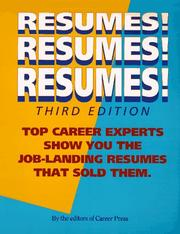 Cover of: Resumes! resumes! resumes! |