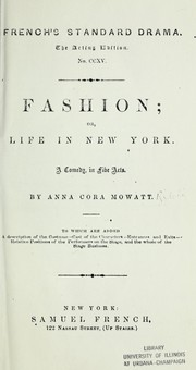 Cover of: Fashion