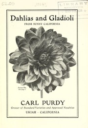 Cover of: Dahlias and gladioli from sunny California