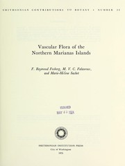 Cover of: Vascular flora of the Northern Marianas Islands