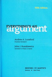 Cover of: everything's an argument |