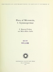 Cover of: Flora of Micronesia, gymnospermae