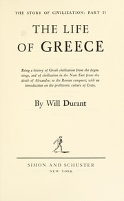 Cover of: The Story of Civilization, Vol II | Will Durant