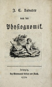 Cover of: Von der Physiognomik