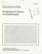 Cover of: Production of spores for field studies