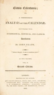 Cover of: Clavis calendaria: or, a compendious analysis of the calendar