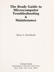 Cover of: The Brady guide to microcomputer troubleshooting & maintenance