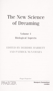 Cover of: The new science of dreaming |