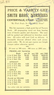Price and variety list by Smith Bros.' Nurseries