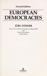 Cover of: European democracies | JuМ€rg Steiner