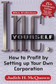Inc. yourself by Judith H. McQuown