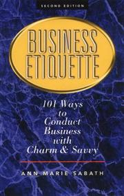 Cover of: Business etiquette |
