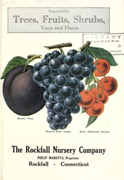 Cover of: [Catalog of] dependable trees, fruits, shrubs, vines and plants | Rockfall Nursery Co