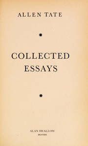 Cover of: Collected essays