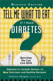 Cover of: Tell Me What to Eat If I Have Diabetes (Tell Me What to Eat)