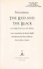 Cover of: The red and the black | Stendhal