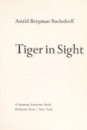 Cover of: Tiger in sight
