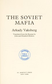 Cover of: The Soviet Mafia | Arkadiĭ Vaksberg