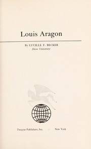 Cover of: Louis Aragon