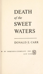 Cover of: Death of the sweet waters | Donald Eaton Carr