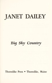 Cover of: Big Sky Country |